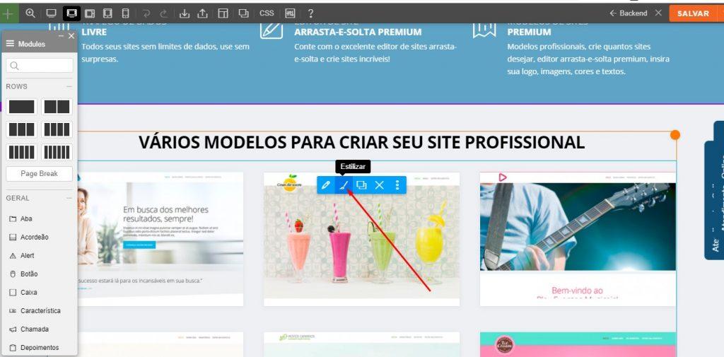 como editar site juridico
